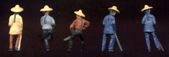 Chinese Figures (metal) painting guide for backs