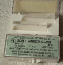 Real window glass for models