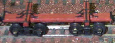 Model Russel log car made from kit