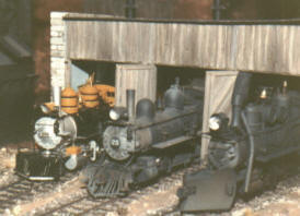 Steam locomotives at Sierra Scale Models